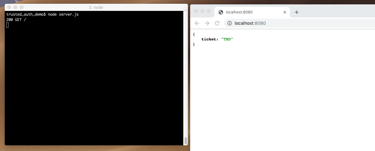 port 8080 via GET request returns a JSON object, API, request URL console debugging