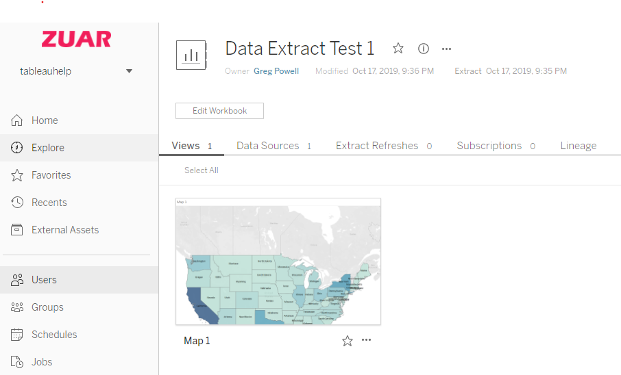 Tableau Data Extract
