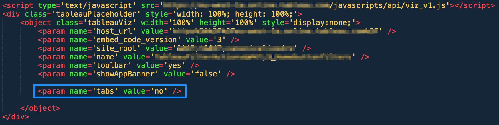 Tableau embed code