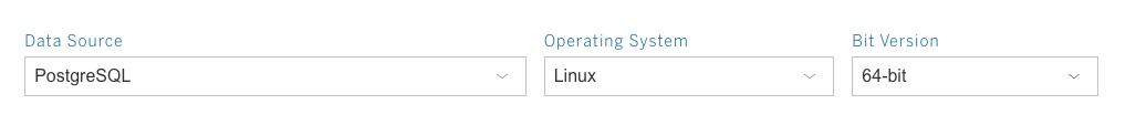 Tableau Driver Download page, PostgreSQL Linux 64-bit