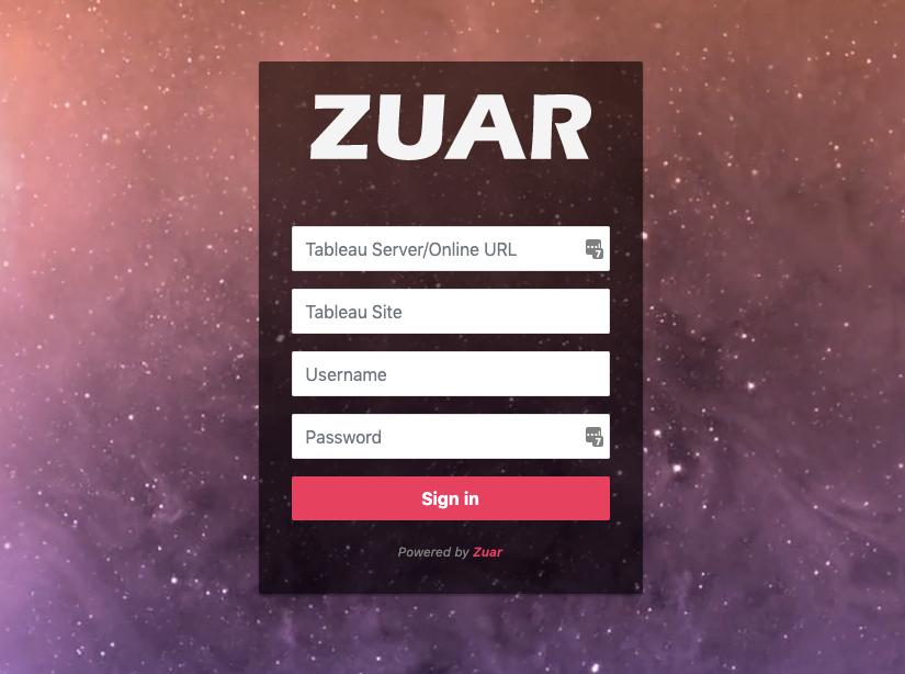 Zuar Rapid Portal Secure User Login