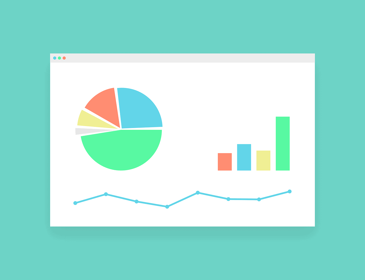 Types of charts and graphs for embedded analytics.